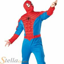 Mens Deluxe Spiderman Fancy Dress Costume Avengers Superhero Halloween Outfit