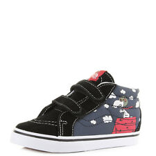 Junior Boys Vans Sk8 Reissue Peanuts Snoopy Flying Ace Blue Trainers Sz Size