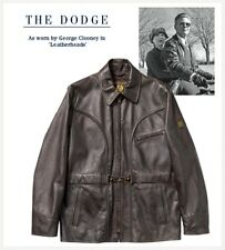 Belstaff Dodge George Brown Leather Clooney Jacket Brand New BNWT UK 40 IT 50