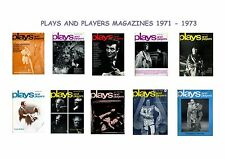 PLAYS AND PLAYERS MAGAZINES.DATED 1971.1972.1973.THEATRE.FREE UK P&P