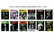 PLAYS AND PLAYERS MAGAZINES.DATED 1976 & 1977..THEATRE.FREE UK P&P