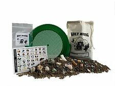 Emerald Bag of rocks, gems, and minerals mining rough activity dig kit