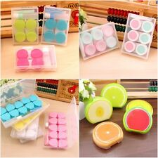 Travel Portable Plastic Contact Lens Case Storage Container Kit Holder Box 4type