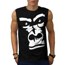 Gorilla Animal Monkey Men Sleeveless T-shirt S-2XL NEW | Wellcoda