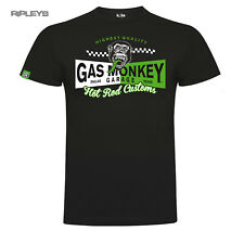 Official GMG T Shirt Gas Monkey Garage Two Tone BANNER Green Logo All Sizes