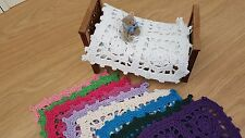 Miniature crochet blanket bedspread 1:12th scale dolls house handmade 15cm
