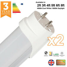 2 x BRITE Source T8 T12 LED TUBO FLUORESCENTE RICAMBIO 2ft 3ft 4ft 5FT