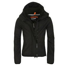 SUPERDRY uomo Giacca Funzionale GIACCA A VENTO ZIP 3 Nere Bianche