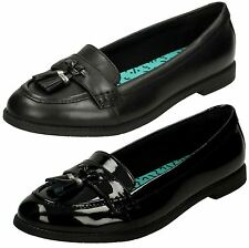 'Junior Girls Bootleg By Clarks' Rounded Toe Loafer School Shoes - Preppy Edge