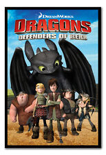 Framed Dragons Defenders Of Berk Magnetic Notice Board Includes Magnets