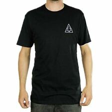 Huf Apparel Triple Triangle Black T-Shirt Skate Streetwear Lifestyle Tee New