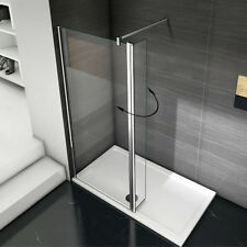 Aica Classic Wet Room Shower Enclosure 8mm Glass Cubicle Screen Panel 1950mm