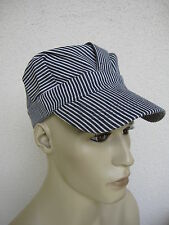 Hickory Stripe Engineer Cap US Army USMC Navy Marines WWII Rockabilly WK2 WWII