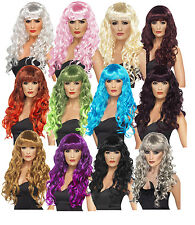 Ladies Siren Witches Wig Long Curly Fancy Dress Wig Halloween Fun Wigs Smiffys