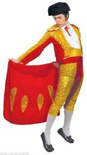 Mens Red/Gold Sequinned Matador Spanish Bull Fighter Fancy Dress Costume Outfit