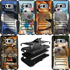 Shockproof Dual Layer Heavy Duty Hybrid Protective Case for Samsung Phone Models