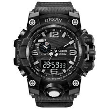 OHSEN Men Sport Digital Watch LED Display Dual Time Quartz Chrono Wrist watch