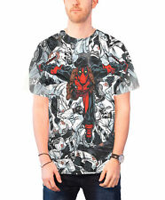 Deadpool T Shirt Homme Deadpool Leap nouveau officiel Marvel Comics slim fit sub