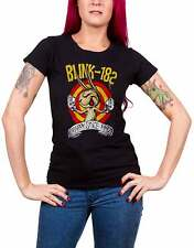 Blink 182 T Shirt womens Fists Of Fury band logo new Official Black skinny fit