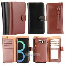 Flip Folio Wallet PU Leather Case Card Slot Cover For Samsung Galaxy S8 S7 Edge