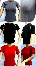 Womens Tight Nike Pro Vent Short Sleeve Compression Crew Top Vest Sport Fitness