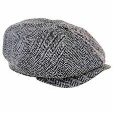 Heather Sombreros Scott Harris Tweed Negro EN ESPIGA Papelero gorra