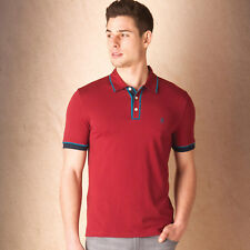 Original Penguin Tri Colour Earl, Herren-Polohemd, bordeaux