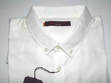 BEN SHERMAN CAMICIA BIANCA COTONE BOTTON DOWN SHIRT MA00004 tg XL REGULAR FIT