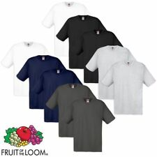 Fruit of the Loom 5/10 t-shirts originaux hommes S-XXL 100 % coton Multicolore