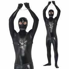 Mens Gimp Suit Costume Funny Comedy Stag Night Fancy Dress Adult Halloween Fun
