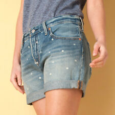 Womens Levis 501 Dotted Shorts In Blue From Get The Label