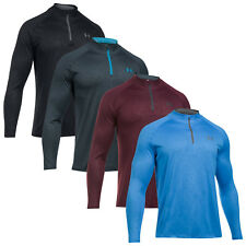 Under Armour Mens Tech Embossed Half Zip Top - New UA Training Gym Pullover 2018