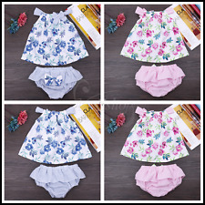 Newborn Infant Baby Girl Summer Toddler/Floral Outfits Photo Props Headband Sets