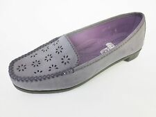 SPOT ON DONNA viola mocassini scarpe f9373