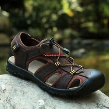 New Men Outdoor Beach Shoes Fisherman Closed Toe Flats Hiking Leather Sandals