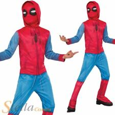 Boys Spiderman Sweats Costume Superhero Marvel Fancy Dress Jumpsuit Outfit