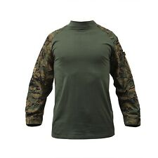 Marines US WOODLAND DIGITALE mimetico Combat USMC TACTICAL ARMY Camicia camicia