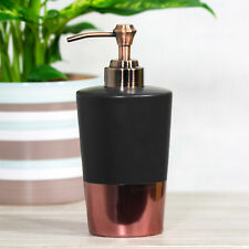 Lotion Soap Dispenser Black Copper Ceramic Bathroom Kitchen Sink Pump Liquid