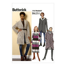 Butterick Fast & Easy Sewing Pattern | B6251 | Misses' Sweater Jacket and Coat