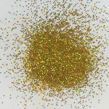 HOLOGRAPHIC GOLD CRYSTALINE nail art FESTIVAL FACE GLITTER .15 HEX 10/50/100g