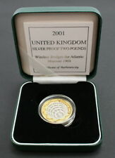 Royal Mint 2000s £2 Coins - Sterling Silver Proof & Silver Piedfort Proof