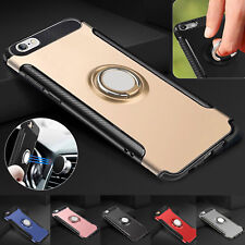 Full Body Hybrid Luxury Ultra thin Case Cover with Ring holder For iPhone Model