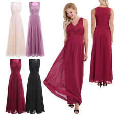 Elegant Lady Women's Long Maxi Evening Dress Bridesmaid Cocktail Party Prom Gown
