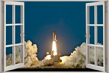 Huge 3D Window view Space Shuttle Discovery Launch Wall Sticker Decal 859