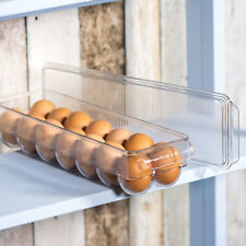 Egg Storage Holder with Lid Rack Box Tray Fridge Storage Stackable Space Saver