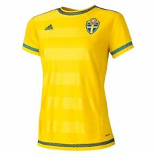 adidas WOMEN'S SWEDEN HOME REPLICA PLAYER JERSEY FOOTBALL SOCCER WORLD CUP