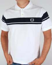 Sergio Tacchini Young Line Polo Shirt in White & Navy - McEnroe 80s classic