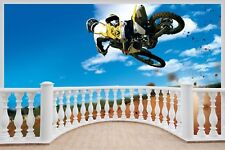 Huge 3D Balcony Scrambling Mx Motor Cross Wall Stickers Decal 269
