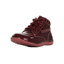 Chaussures Boots Kickers fille Billista Cuir Vernis Rose Fonce taille Lacets