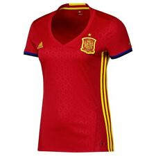 adidas WOMEN'S SPAIN NATIONAL FOOTBALL TEAM 16/17 HOME JERSEY RED SOCCER EUROS